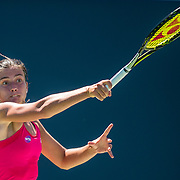 August 22, 2016, New Haven, Connecticut: <br /> Anastasija Sevastova of Latvia in action during a match on Day 4 of the 2016 Connecticut Open at the Yale University Tennis Center on Monday August  22, 2016 in New Haven, Connecticut. <br /> (Photo by Billie Weiss/Connecticut Open)