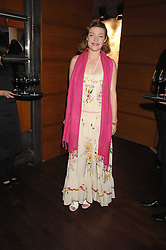 Actress CAMILLA RUTHERFORD at a party to celebrate the launch of Cavalli Selection - the first ever wine from Casa Cavalli, held at 17 Berkeley Street, London W1 on 29th May 2008.<br /><br />NON EXCLUSIVE - WORLD RIGHTS