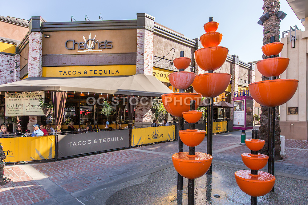 Orange Tree Grove Water Fountain in Downtown Brea