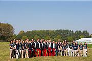 Benjamin Aillaud, Staphane Chouzenoux, Thibault Coudry, Anthony Horse, Fabrice Martin, Sebastien Mourier, Sebastien Vincent, Francois Vogel, (FRA) - Horse Inspection Driving - Alltech FEI World Equestrian Games™ 2014 - Normandy, France.<br /> © Hippo Foto Team - Leanjo de Koster<br /> 25/06/14