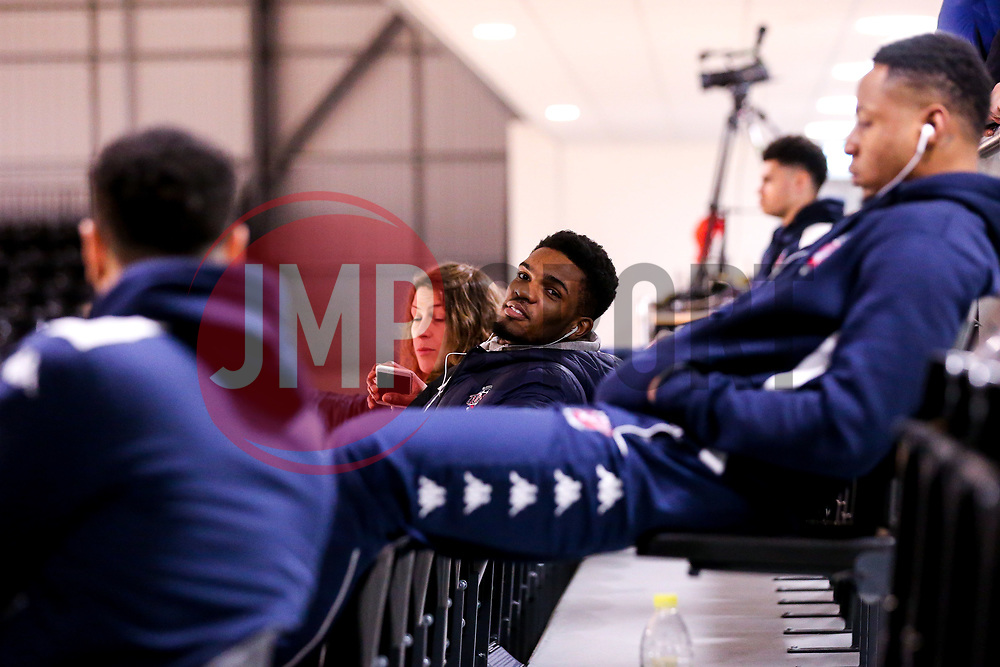 Marcus Delpeche of Bristol Flyers arrives at the Eagles Community Arena, for the BBL fixture against Newcastle Eagles - Photo mandatory by-line: Robbie Stephenson/JMP - 01/03/2019 - BASKETBALL - Eagles Community Arena - Newcastle upon Tyne, England - Newcastle Eagles v Bristol Flyers - British Basketball League Championship