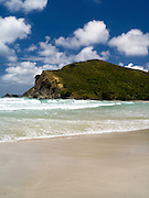 Scene from Tapotupotu Bay, Northland, North Island, New Zealand on a warm, windy summer day.