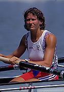 Barcelona, SPAIN.  GBR W8+, Kate GROSE,  1992 Olympic Rowing Regatta Lake Banyoles, Catalonia [Mandatory Credit Peter Spurrier/ Intersport Images]