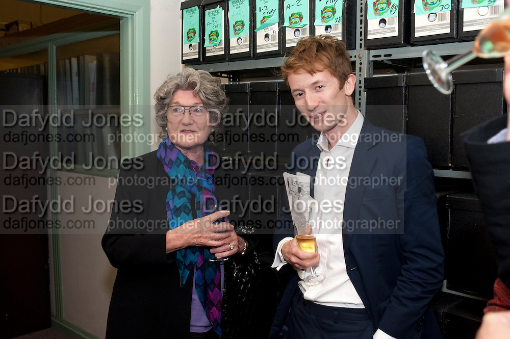 JULIA BUDWORTH; MATTHEW BELL, Rachel's Johnson's 'A Diary of the Lady'book launch at The Lady's offices. Covent Garden. London. 30 September 2010. -DO NOT ARCHIVE-© Copyright Photograph by Dafydd Jones. 248 Clapham Rd. London SW9 0PZ. Tel 0207 820 0771. www.dafjones.com.