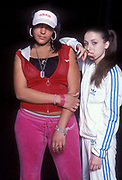 UK Grime/Garage mc Lady Sovreign, posing with friend, UK 2005