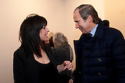 JENNIFER RUBELL; SIMON DE PURY; 'Engagement' exhibition of work by Jennifer Rubell. Stephen Friedman Gallery. London. 7 February 2011. -DO NOT ARCHIVE-© Copyright Photograph by Dafydd Jones. 248 Clapham Rd. London SW9 0PZ. Tel 0207 820 0771. www.dafjones.com.