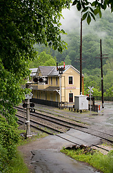 The restored train station at the mostly abandoned town of Thurmond, West Virginia also serves as a visitor center for the National Park Service. The Thurmond historical district is part of the New River Gorge National River. During the height of coal mining in the New River Gorge, Thurmond was a properous town with banks and other businesses.