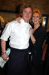 Chef IAN PENGELLEY and MARIE-CLAIRE BARONESS VON ALVENSLEBEN at the opening party of Pengelley's, 164 Sloane Street, London SW1 on 22nd February 2005.<br /><br />NON EXCLUSIVE - WORLD RIGHTS