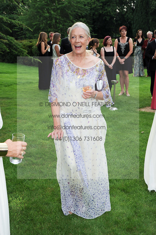VANESSA REDGRAVE at the Raisa Gorbachev Foundation Party held at Stud House, Hampton Court Palace on 5th June 2010.  The night is in aid of the Raisa Gorbachev Foundation, an international fund fighting child cancer.