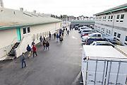 Students arrive at the Monterey Bay Aquarium Research Institue.