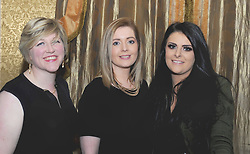Clare Reilly, Michelle Fergus and Ciara O&rsquo;Grady at Westport United&rsquo;s &lsquo;Stars in their Eyes&rsquo; on friday night last.<br /> Pic Conor McKeown
