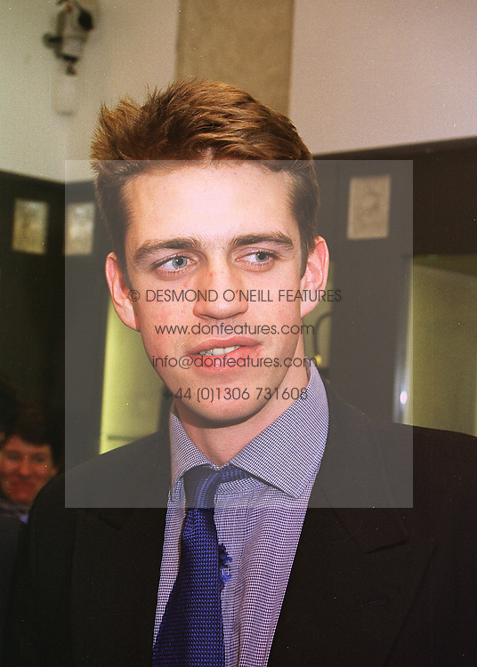 MR BEN ELLIOT nephew of Camilla Parker Bowles, at a party in London on 22nd April 1998.MGX 17