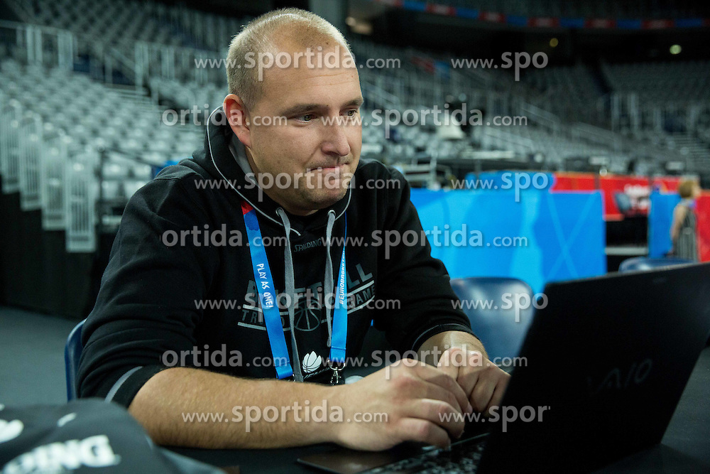 Matej Avanzo during practice session of Team Slovenia at Day 3 in Group C of FIBA Europe Eurobasket 2015, on September 7, 2015, in Arena Zagreb, Croatia. Photo by Vid Ponikvar / Sportida
