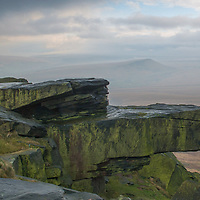 A view of Buckstone Edge (also known as Nont Sarah's) towards Marsden and Saddleworth Moor from the A640 New Hey Road
