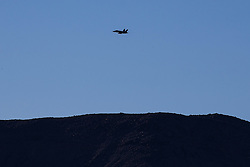 """US Navy Boeing F/A-18E Super Hornet NJ-255 from Strike Fighter Squadron 122 (VFA-122) the """"Flying Eagles"""" flies into the Jedi Transition over Rainbow Valley, Death Valley National Park, California, United States of America"""