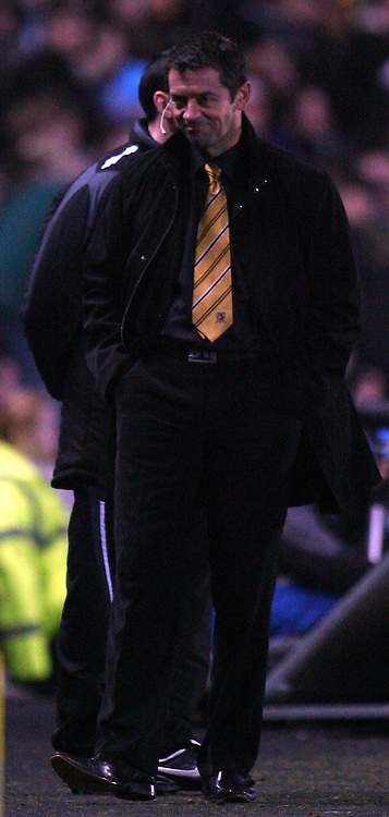 Hull - Saturday, January 24th, 2009: All Smiles, Phill Brown  Hull City manager after words with Millwall manager following an incident on the pitch during the FA Cup fourth round match at the KC Stadium, Hull. (Pic by Darren Walker/Focus Images)