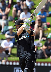 New Zealand's Martin Guptill batting against Pakistan in the fifth one day International Cricket match, Basin Reserve, Wellington, New Zealand, Friday, January 19, 2018