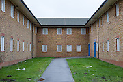 The courtyard between B and C wings. HMP Send, closed female prison. Ripley, Surrey.