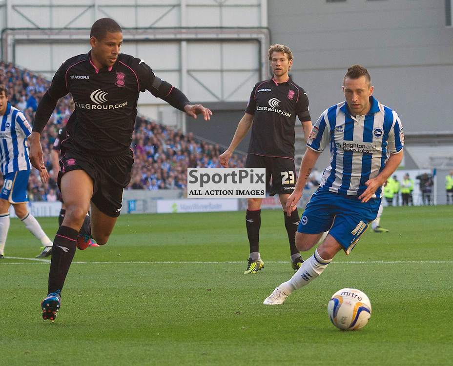 BRIGHTON. UK. 29/09/2012. at the match between Brighton and  Hove Albion FC and Birmingham City FC held at the American Express Community Stadium Falmer. © Peter Webb | STOCKPIX.EU. Photo credit: Peter Webb | STOCKPIX.EU