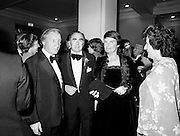 Former Taoiseach Charles Haughey, Noel Coade, Director, National Concert Hall Committee, and Maureen Haughey at the State opening of the National Concert Hall, Earlsfort Terrace, Dublin. The venue was officially opened by President Patrick Hillery, followed by the premier concert featuring the Radio Telefís Éireann Symphony Orchestra with a large cast of soloists, choirs and the RTÉSO leader Audrey Park, conducted by RTÉ's Principal Conductor Colman Pearce.<br />
