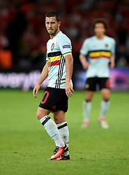 Eden Hazard of Belgium looks a frustrated figure  - Mandatory by-line: Joe Meredith/JMP - 01/07/2016 - FOOTBALL - Stade Pierre Mauroy - Lille, France - Wales v Belgium - UEFA European Championship quarter final