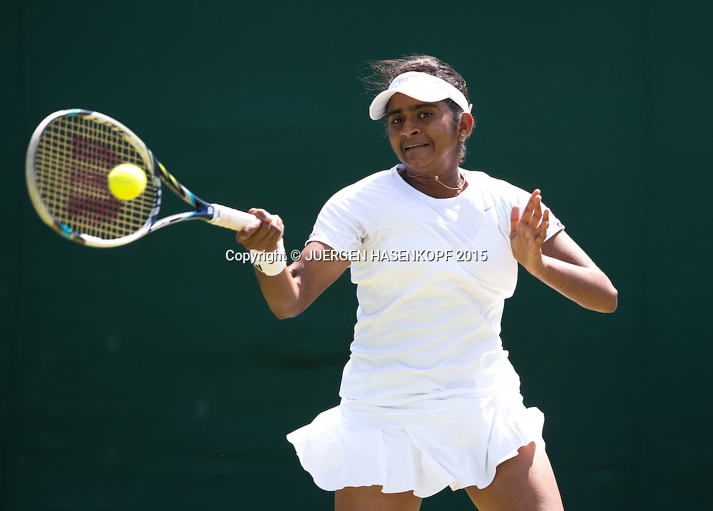 Pranjala Yadlapalli (IND) Junioren<br /> <br /> Tennis - Wimbledon 2015 - Grand Slam ITF / ATP / WTA -  AELTC - London -  - Great Britain  - 4 July 2015.