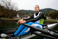 Jan Spik during media day of Slovenian National rowing team before World Championships in New Zealand 2010 on October 14, 2010 in Mala Zaka, Bled, Slovenia. (Photo by Vid Ponikvar / Sportida)