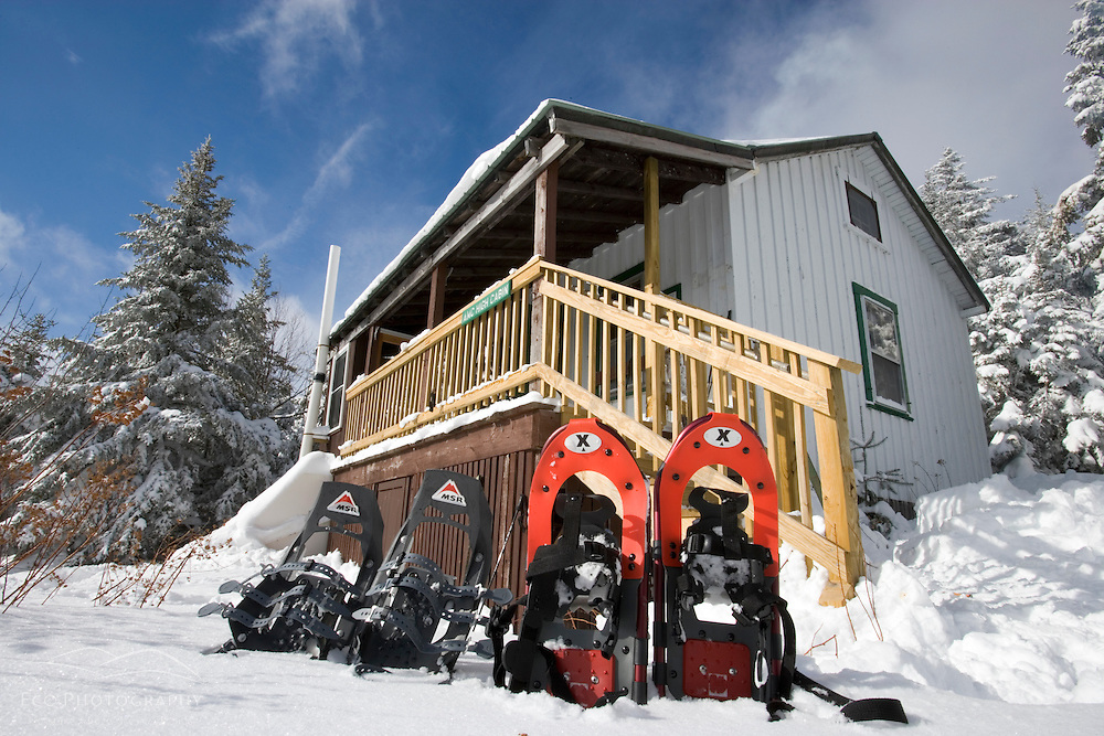 The Appalachian Mountain Club's Hi-Cabin on Mount Cardigan in Canaan, NH.  Hurricane Gap Trail.