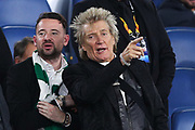 Rod Stewart watches the match during the UEFA Europa League, Group E football match between SS Lazio and Celtic FC on November 7, 2019 at Stadio Olimpico in Rome, Italy - Photo Federico Proietti / ProSportsImages / DPPI