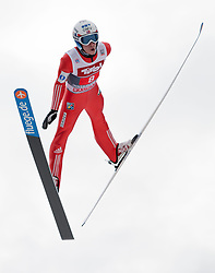 04.01.2015, Bergisel Schanze, Innsbruck, AUT, FIS Ski Sprung Weltcup, 63. Vierschanzentournee, Innsbruck, Probesprung, im Bild Anders Fannemel (NOR) // Johann Forfang of Norway soars trought the air during his Trial Jump for the 63rd Four Hills Tournament of FIS Ski Jumping World Cup at the Bergisel Schanze in Innsbruck, Austria on 2015/01/04. EXPA Pictures © 2015, PhotoCredit: EXPA/Jakob Gruber