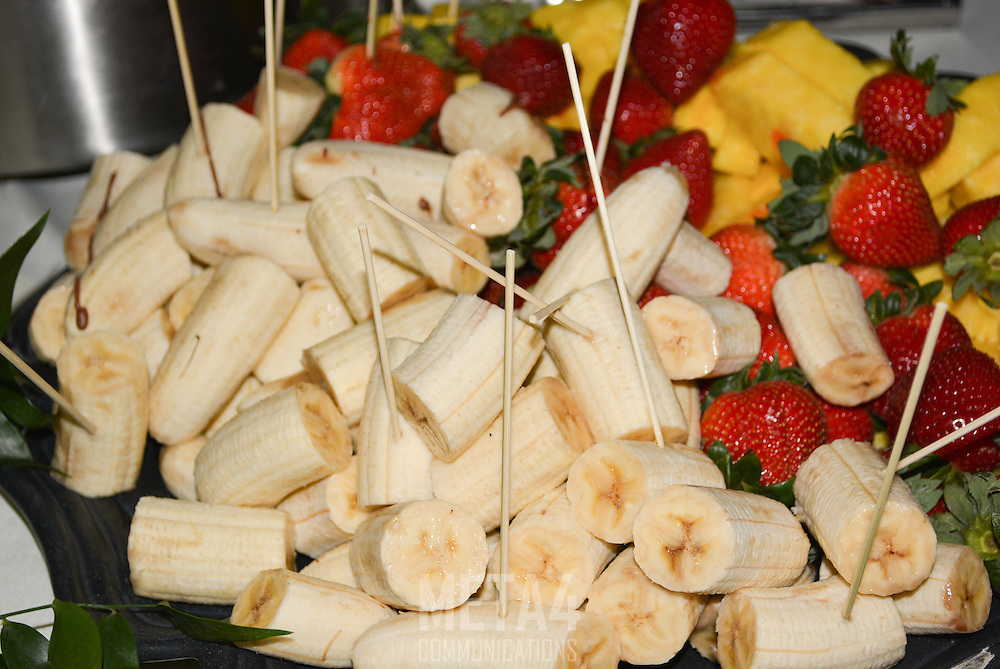 Sliced bananas and fruit are elegant as well as tasty!