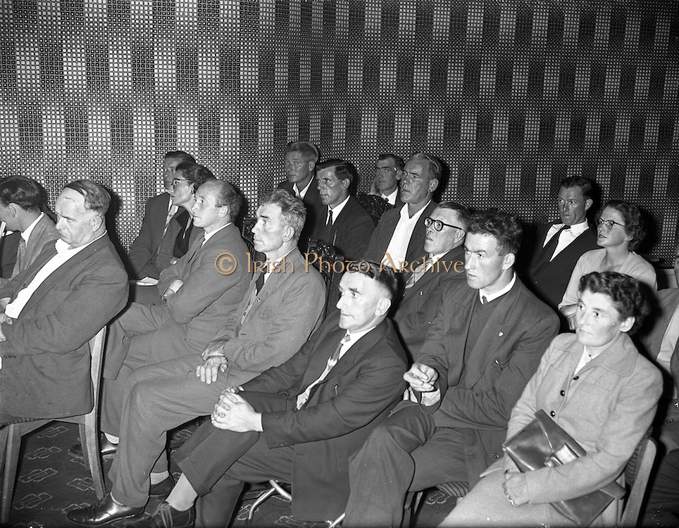 08/09/1959<br /> 09/08/1959<br /> 08 September 1959<br /> First Annual Congress of the Irish Greyhound Owners and Breeders Federation at Jury's Hotel, Dublin. Some of the delegates who attended the Congress.