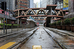 August 23, 2017 - Hong Kong, Hong Kong SAR, China - The busy shopping area of Causeway Bay is deserted as shops remain closed.Hong Kong comes to a halt as Typhoon Hato batters the city in with a Signal 10 tropical cyclone (Credit Image: © Jayne Russell via ZUMA Wire)