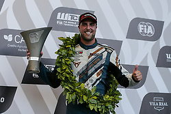 June 23, 2018 - Vila Real, Vila Real, Portugal - Pepe Oriola from Spain in Cupra TCR of Team OSCARO by Campos Racing celebrating the third place in the podium ceremony of FIA WTCR 2018 World Touring Car Cup Race of Portugal, Vila Real, June 23, 2018. (Credit Image: © Dpi/NurPhoto via ZUMA Press)