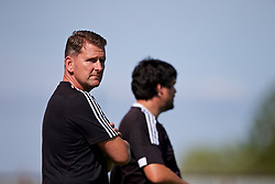 NEWPORT, WALES - Wednesday, July 25, 2018: Combined Regional Head coach Craig Knight during the Welsh Football Trust Cymru Cup 2018 at Dragon Park. (Pic by Paul Greenwood/Propaganda)