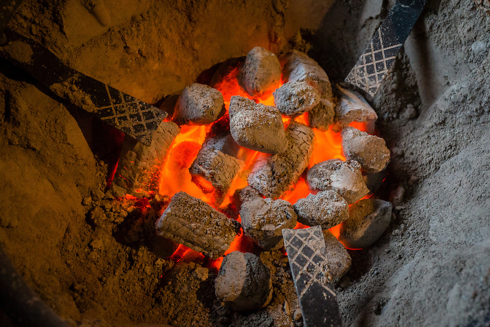 When days and nights are colder, temples find a source of heat in braziers.