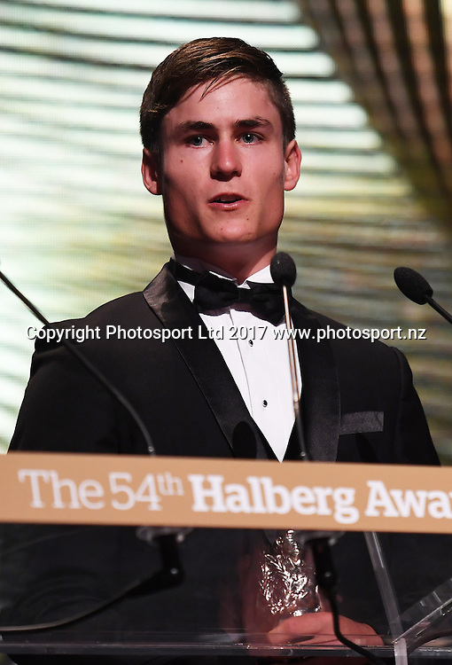 Campbell Stewart.<br /> The 54th Halberg Awards in support of the Halberg Disability Sport Foundation. Vector Arena, Auckland, New Zealand. Thursday 9 February 2017. &copy; Copyright photo: Andrew Cornaga / www.photosport.nz