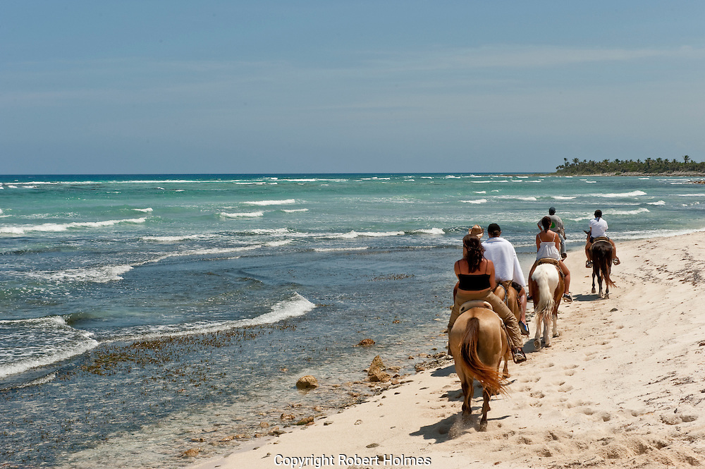 Trail riding on the Riviera Maya, Mexico
