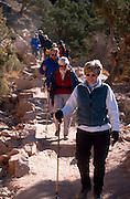Group hiking the Kaibab Trail from the South Rim of the Grand Canyon, Grand Canyon Natl Park, Arizona...Subject photograph(s) are copyright Edward McCain. All rights are reserved except those specifically granted by Edward McCain in writing prior to publication...McCain Photography.211 S 4th Avenue.Tucson, AZ 85701-2103.(520) 623-1998.mobile: (520) 990-0999.fax: (520) 623-1190.http://www.mccainphoto.com.edward@mccainphoto.com.