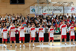 Team Poland at exhibition game between Slovenia and Poland for Primus Trophy 2011Lithuania as part of exhibition games before European Championship L2011on July 23, 2011, in Ljudski Vrt, Ptuj, Slovenia. (Photo by Matic Klansek Velej / Sportida)