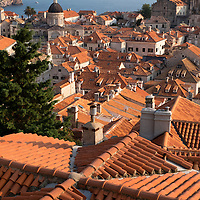 Scene in the UNESCO World Heritage Site of Dubrovnik's Old Town on the Dalmatian Coast in Croatia.