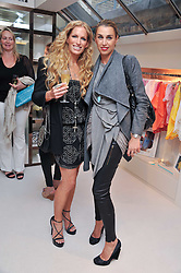 Left to right, LAURA COMFORT and ASSIA WEBSTER at the opening of the new Melissa Odabash store in Walton Street, London SW3 on 7th July 2011.