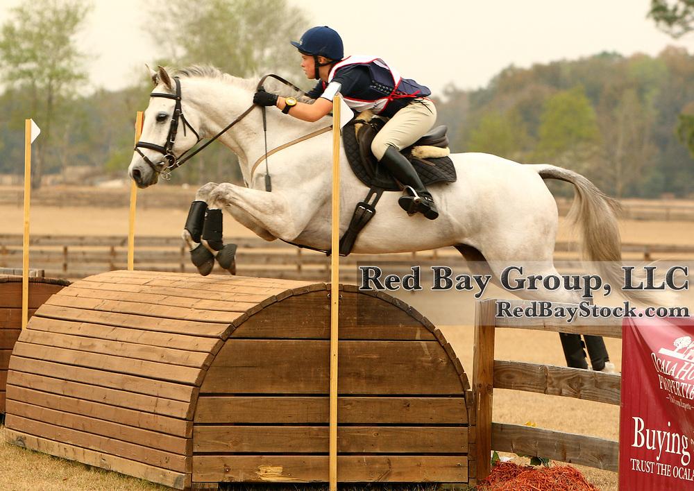 Pearl Macgregor and Shadowplay at the Ocala Winter II Horse Trials in Ocala, Florida.