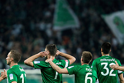 Rok Kronaveter #7 of NK Olimpija Ljubljana celebrates after scoring 1st goal for Olimpija during football match between NK Olimpija Ljubljana and NK Maribor in 33rd Round of Prva liga Telekom Slovenije 2015/16, on May 7, 2016, in SRC Stozice, Ljubljana, Slovenia. Photo by Vid Ponikvar / Sportida