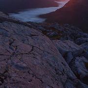 Sunrise over Glencoe and Buchaille Etive Mor from Stob Coire Raineach