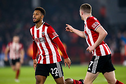 Lys Mousset of Sheffield United celebrates scoring a goal to make it 2-0 - Mandatory by-line: Robbie Stephenson/JMP - 24/11/2019 - FOOTBALL - Bramall Lane - Sheffield, England - Sheffield United v Manchester United - Premier League