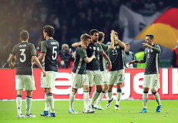 Toni Kroos celebrates with his team mates after scoring the opening goal - Mandatory by-line: Matt McNulty/JMP - 26/03/2016 - FOOTBALL - Olympiastadion - Berlin, Germany - Germany v England - International Friendly