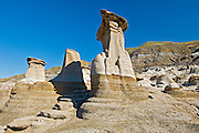 hoodoos and badlands near Drumheller<br /> East Coulee<br /> Alberta<br /> Canada