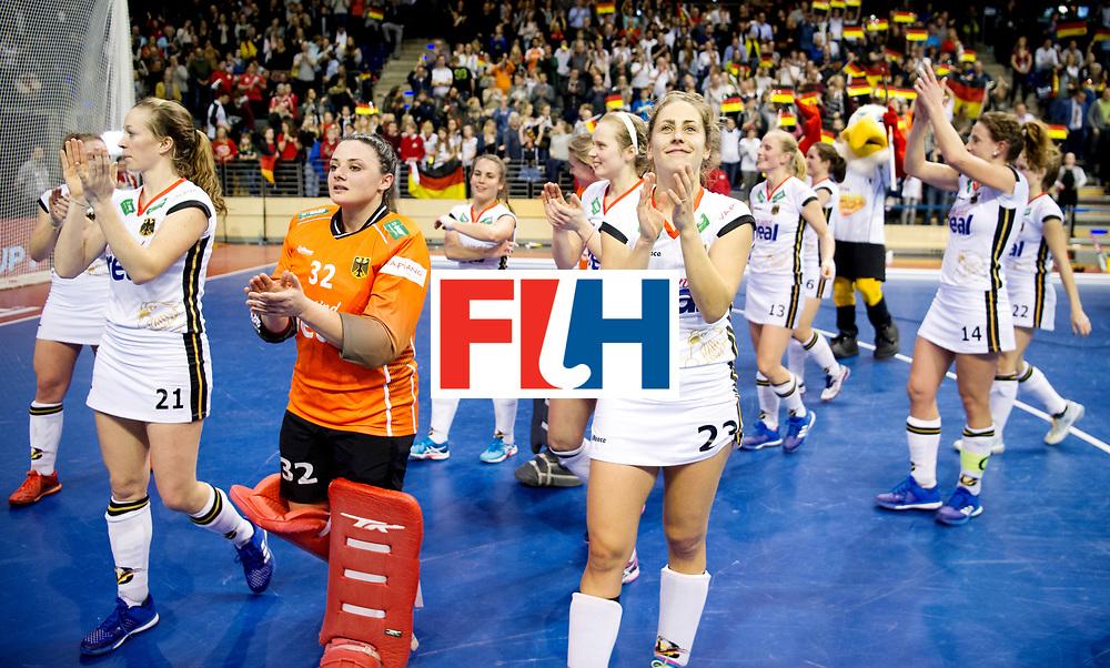 BERLIN - Indoor Hockey World Cup<br /> Semi-final: Belarus - Germany<br /> foto: Marie M&auml;vers.<br /> WORLDSPORTPICS COPYRIGHT FRANK UIJLENBROEK
