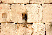Jerusalem, Israel details of the stones in the wailing wall